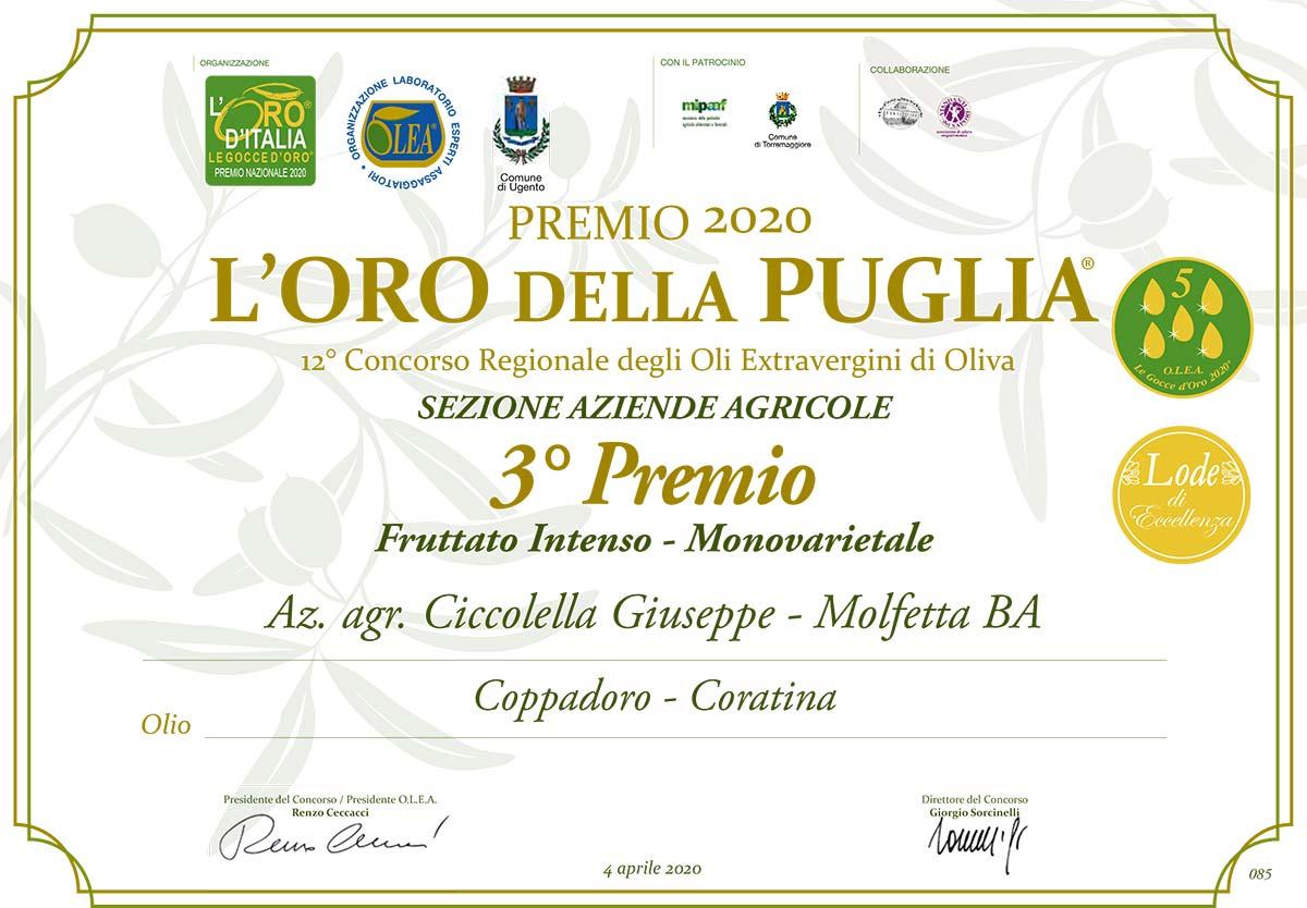 Concorso l'Oro della Puglia