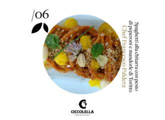 Ricetta spaghetti peperoni e mandorle